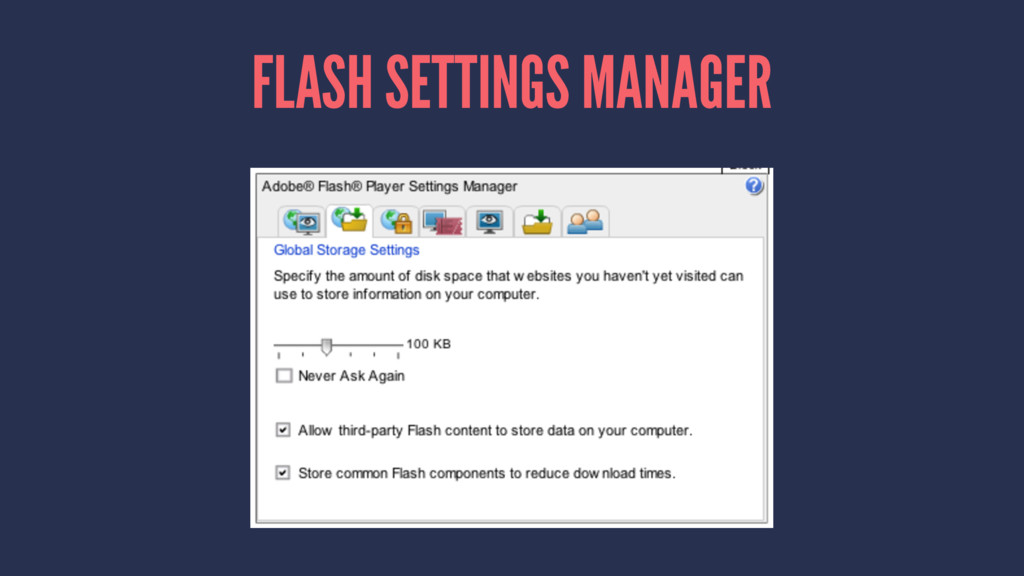 FLASH SETTINGS MANAGER