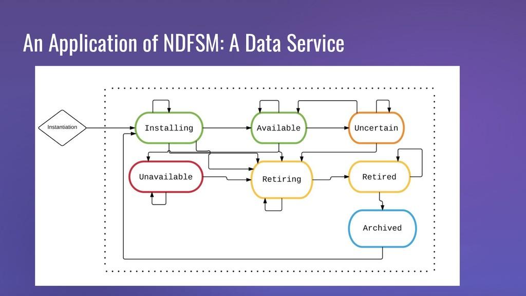 An Application of NDFSM: A Data Service