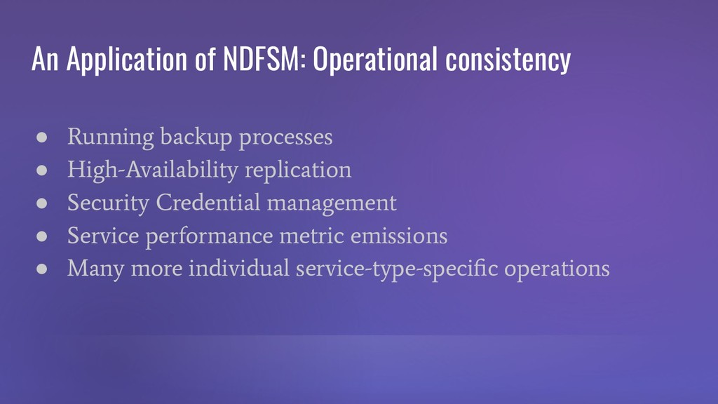 An Application of NDFSM: Operational consistenc...