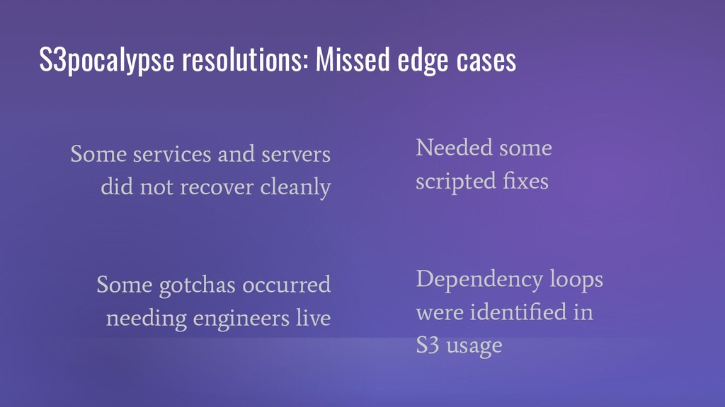 S3pocalypse resolutions: Missed edge cases Some...