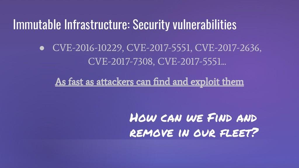 Immutable Infrastructure: Security vulnerabilit...
