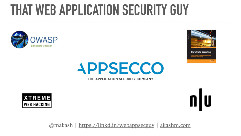 THAT WEB APPLICATION SECURITY GUY