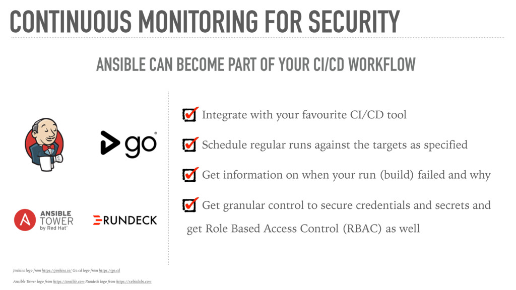 CONTINUOUS MONITORING FOR SECURITY ANSIBLE CAN ...