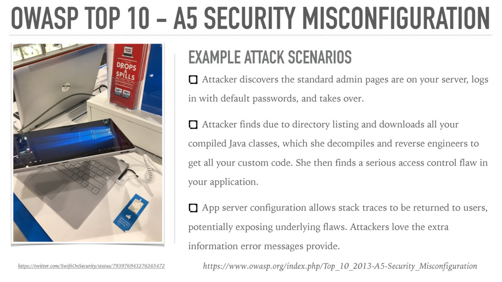 OWASP TOP 10 - A5 SECURITY MISCONFIGURATION htt...