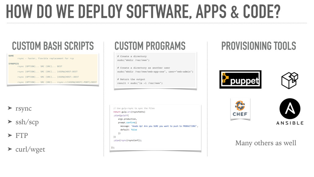 HOW DO WE DEPLOY SOFTWARE, APPS & CODE? CUSTOM ...