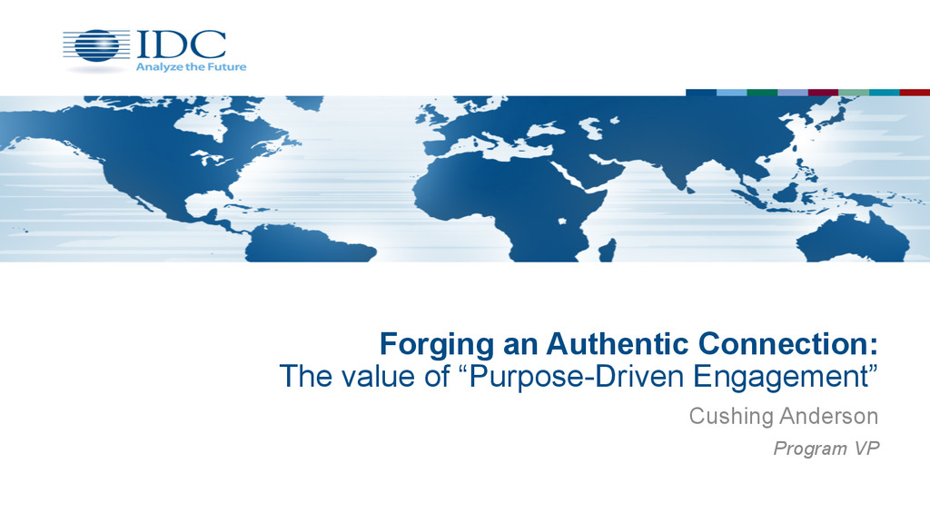 "Forging an Authentic Connection: The value of ""..."