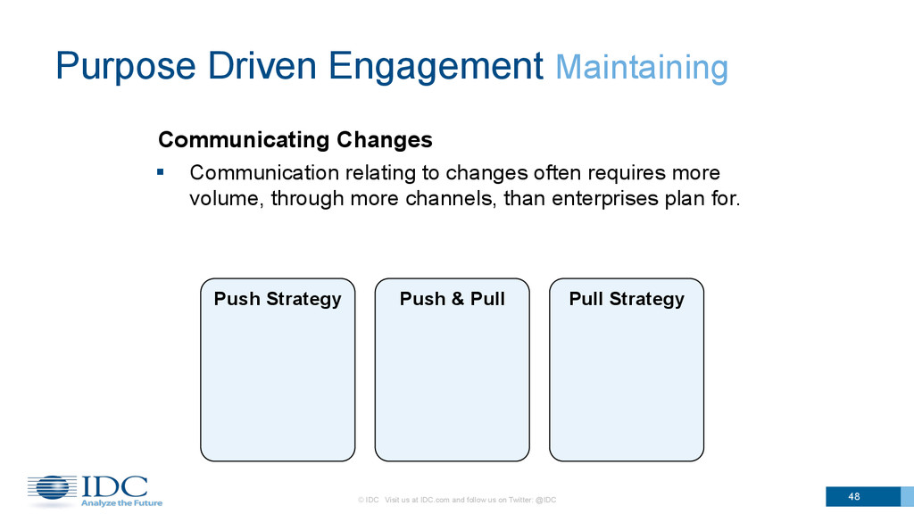 Communicating Changes 48 Purpose Driven Engagem...