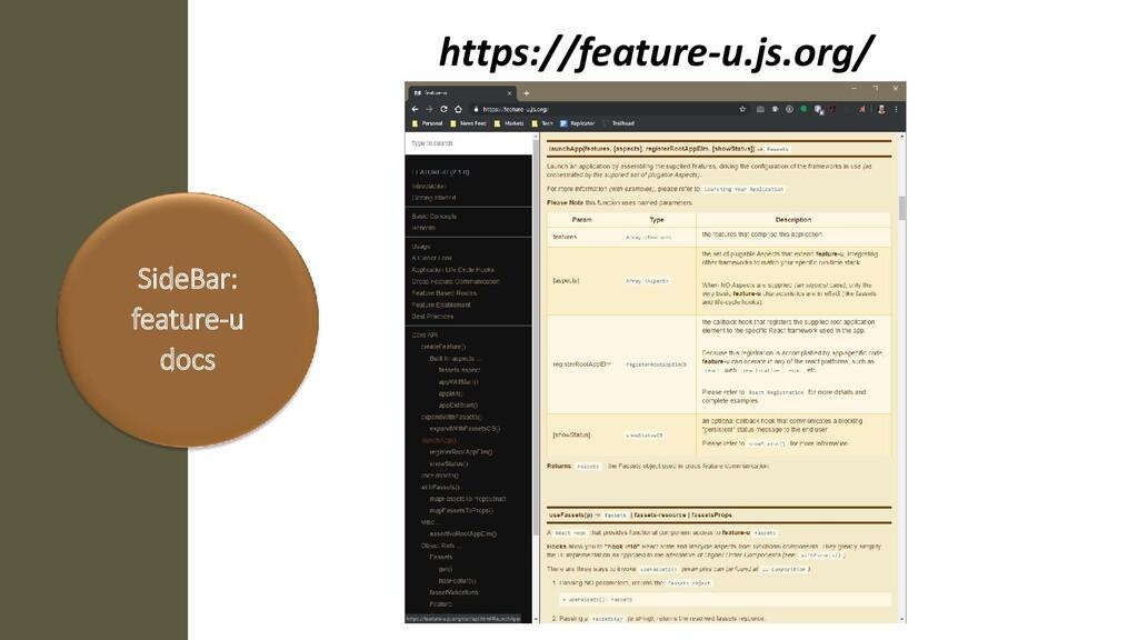 SideBar: feature-u docs https://feature-u.js.or...