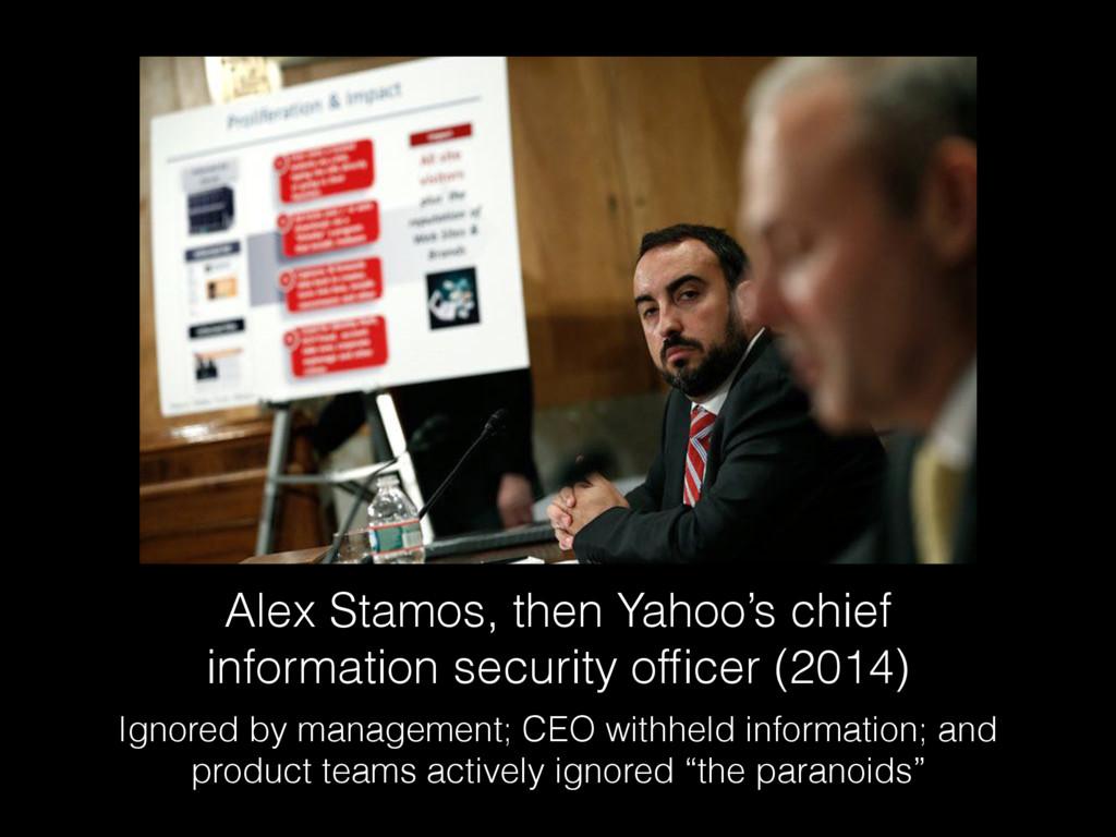 Alex Stamos, then Yahoo's chief information sec...