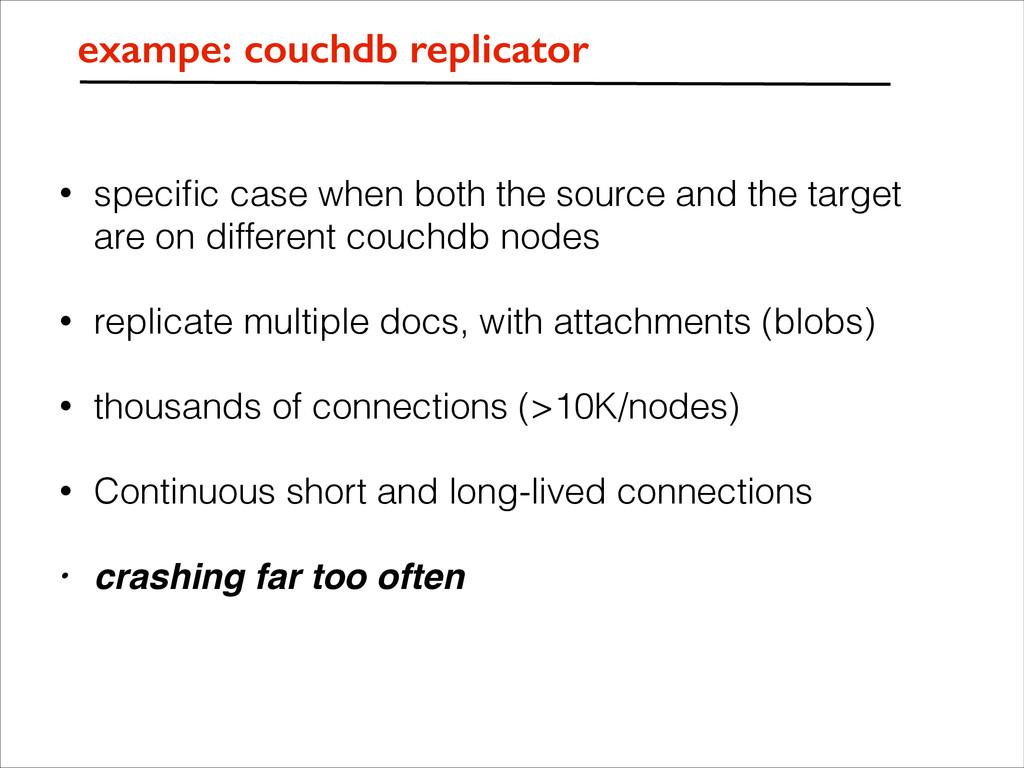 exampe: couchdb replicator • specific case when ...