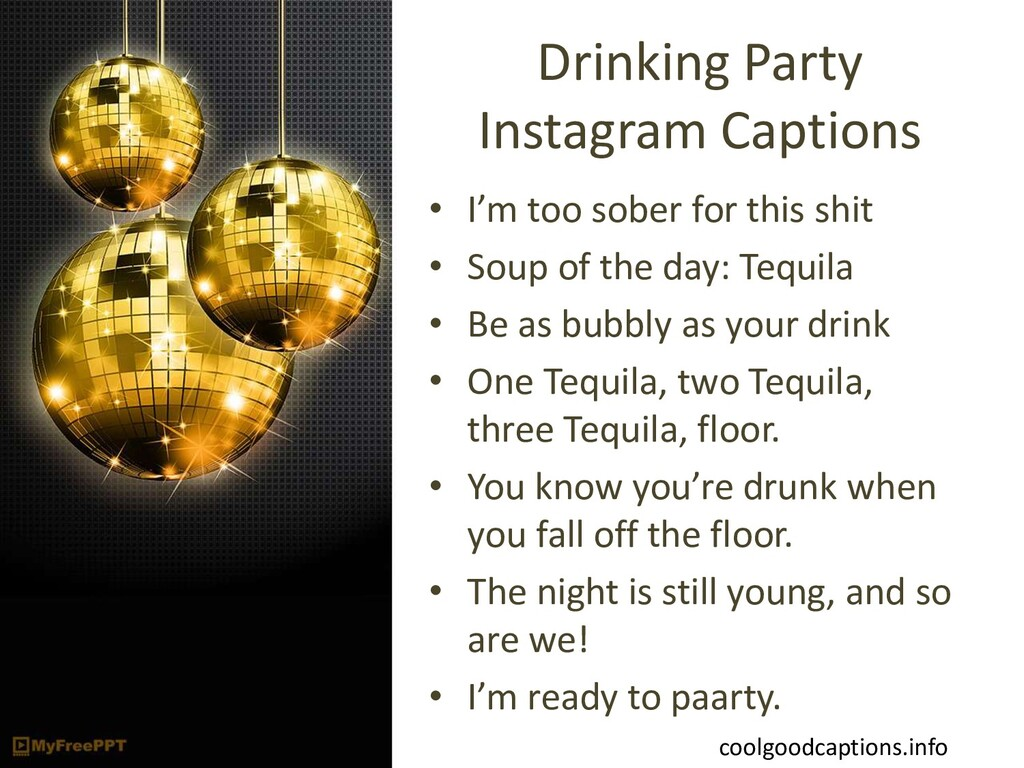 Drinking Party Instagram Captions • I'm too sob...
