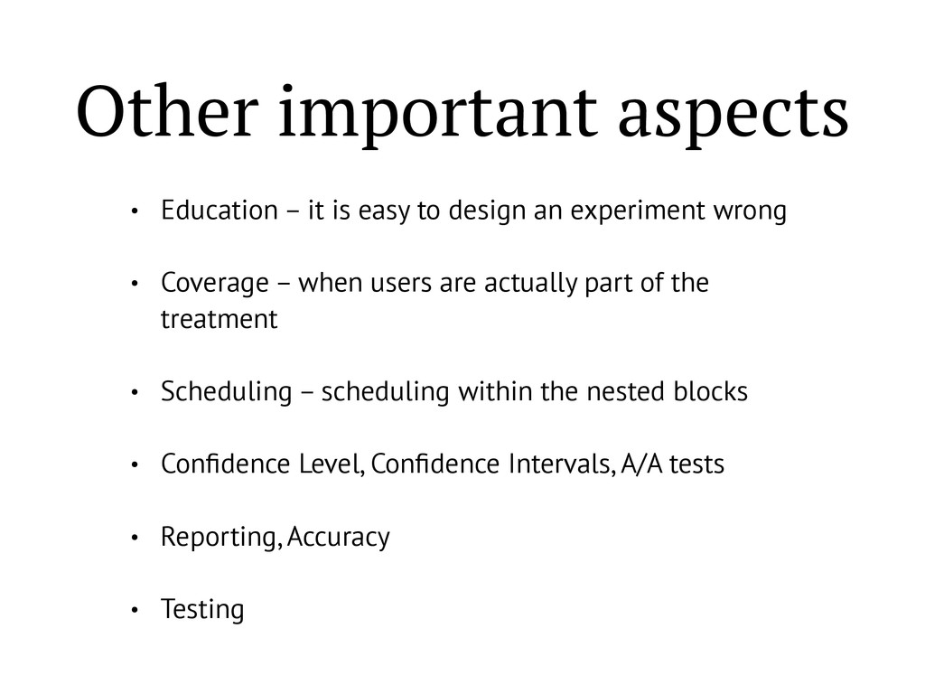 Other important aspects • Education – it is eas...