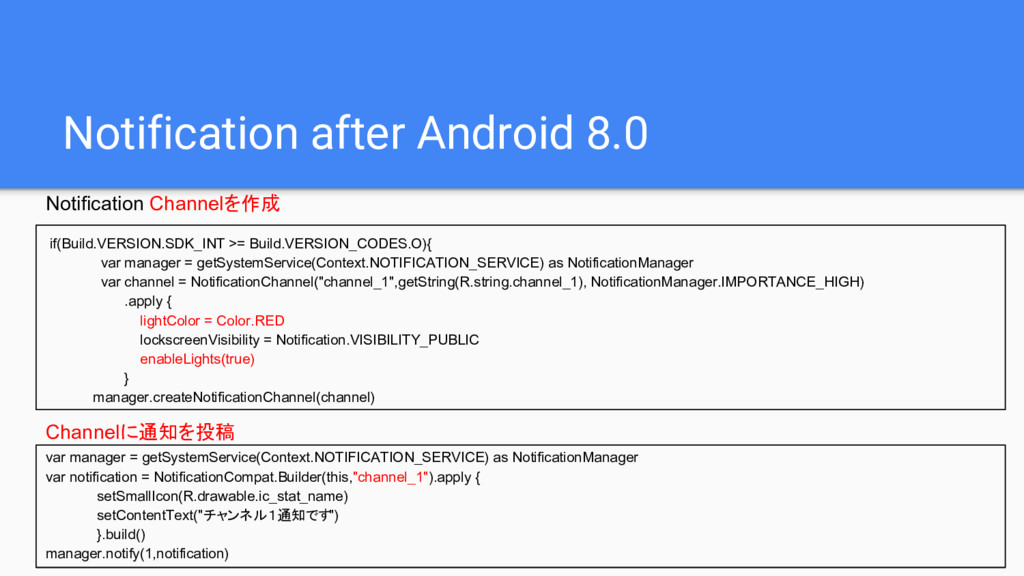 Notification after Android 8.0 if(Build.VERSION...
