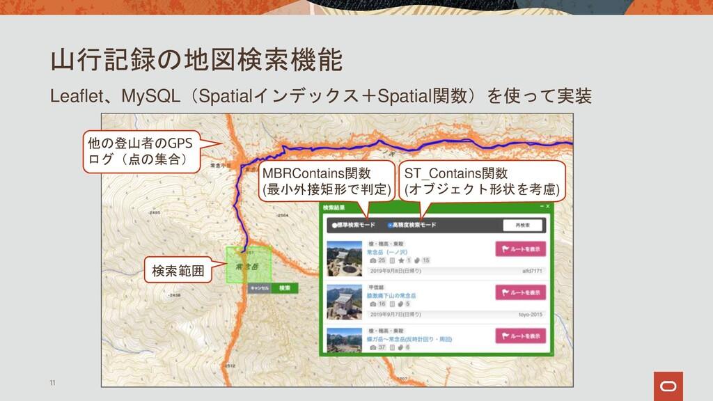 山行記録の地図検索機能 11 Leaflet、MySQL(Spatialインデックス+Spat...