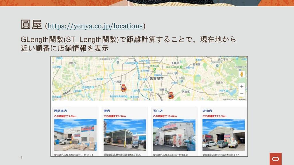 圓屋 (https://yenya.co.jp/locations) 8 GLength関数(...