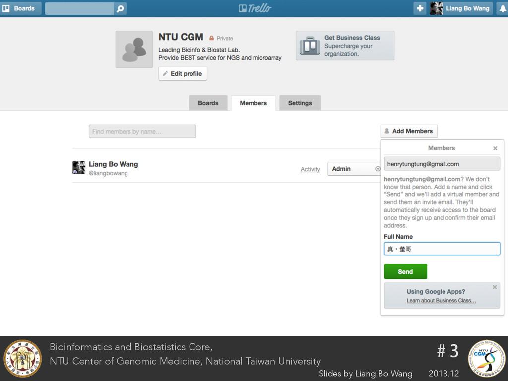 Bioinformatics and Biostatistics Core, NTU Cent...