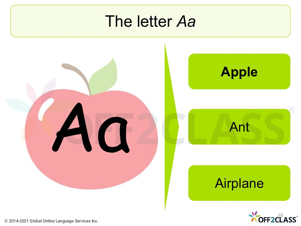 Aa The letter Aa Apple Ant Airplane © 2014-2021...