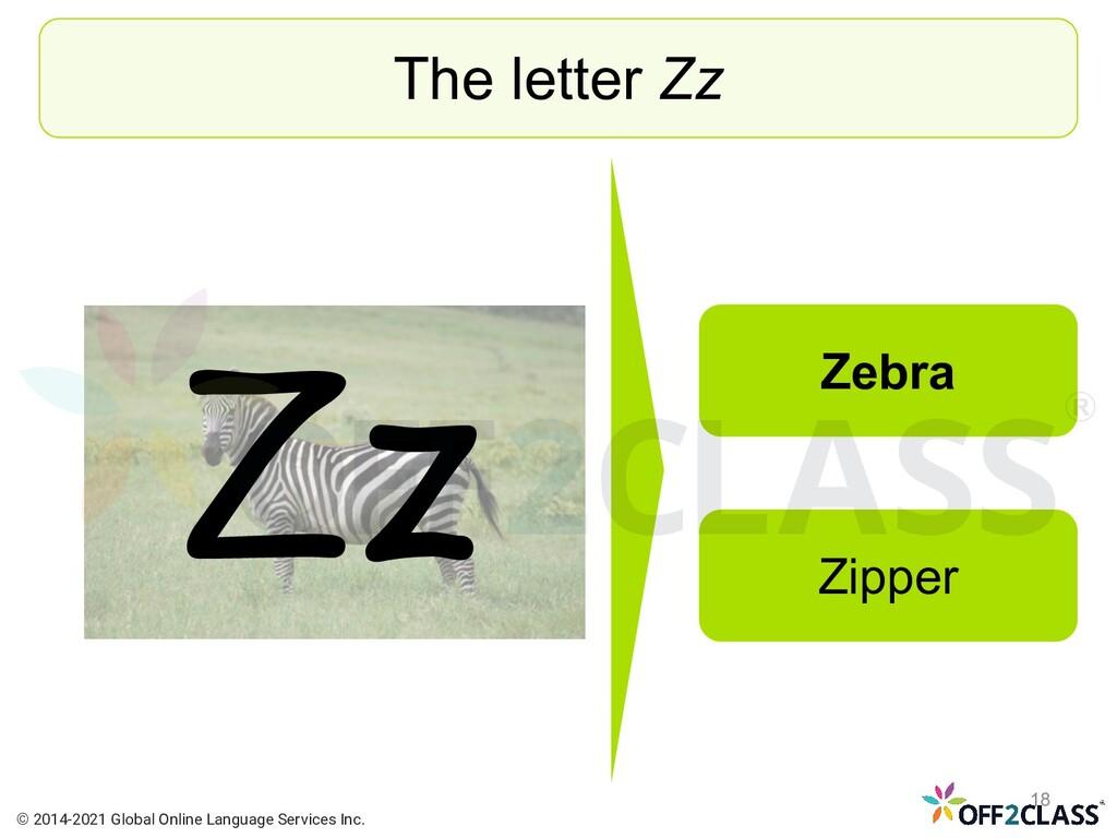 Zz The letter Zz Zebra Zipper © 2014-2021 Globa...