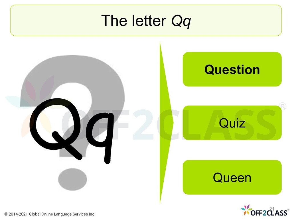 Qq The letter Qq Question Quiz Queen © 2014-202...