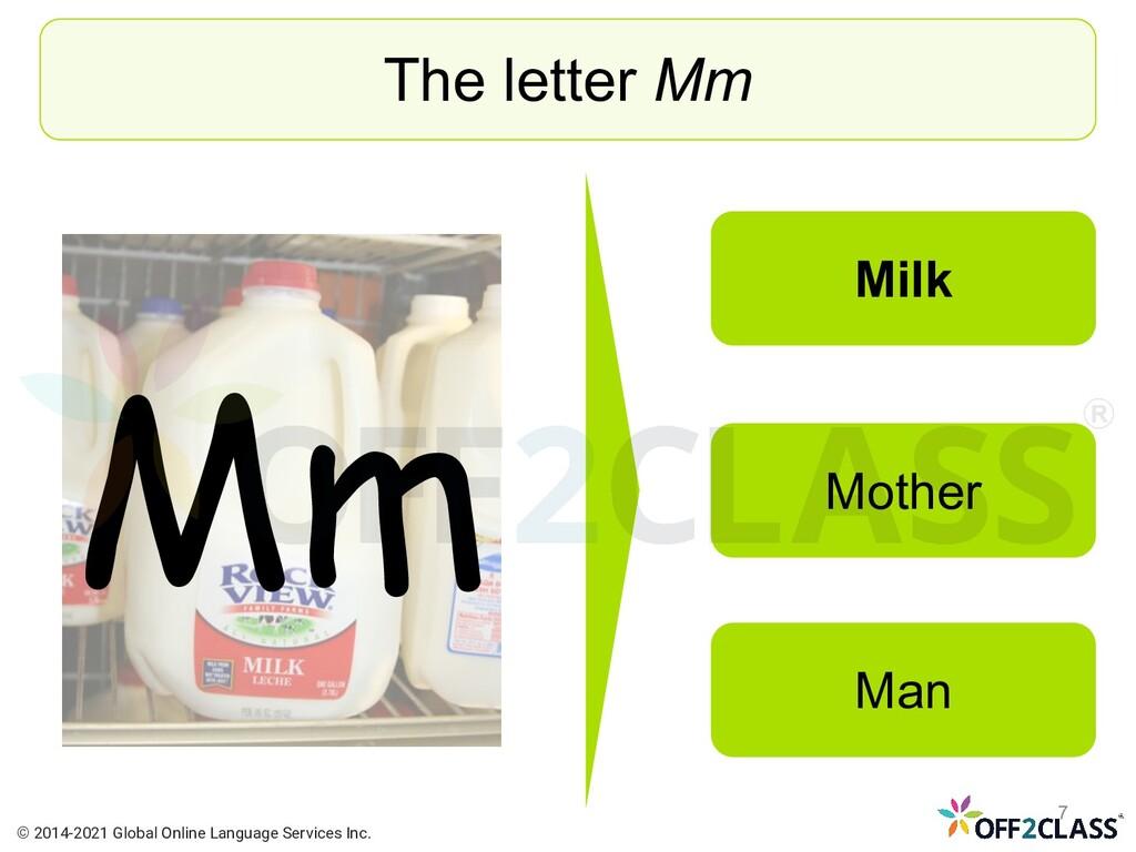 The letter Mm Milk Mother Man Mm © 2014-2021 Gl...