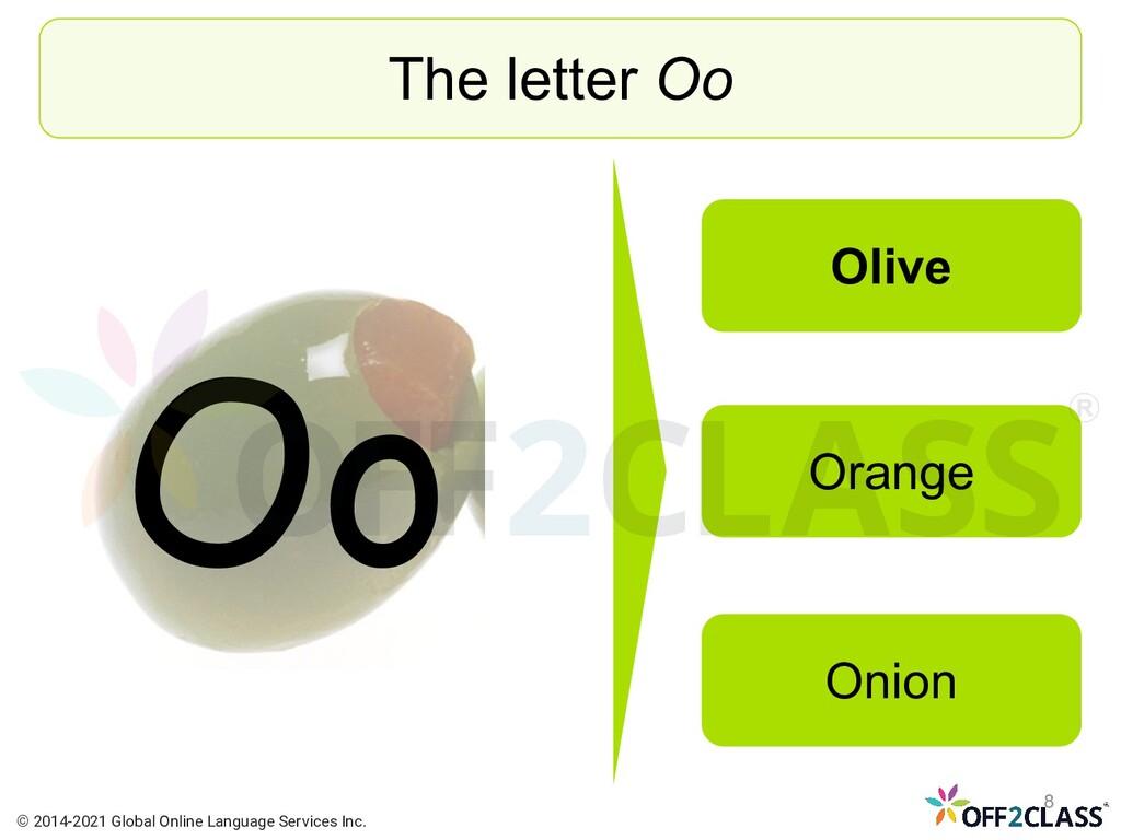 Oo The letter Oo Olive Orange Onion © 2014-2021...