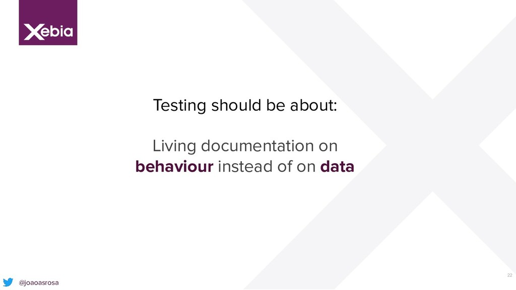 22 Testing should be about: Living documentatio...