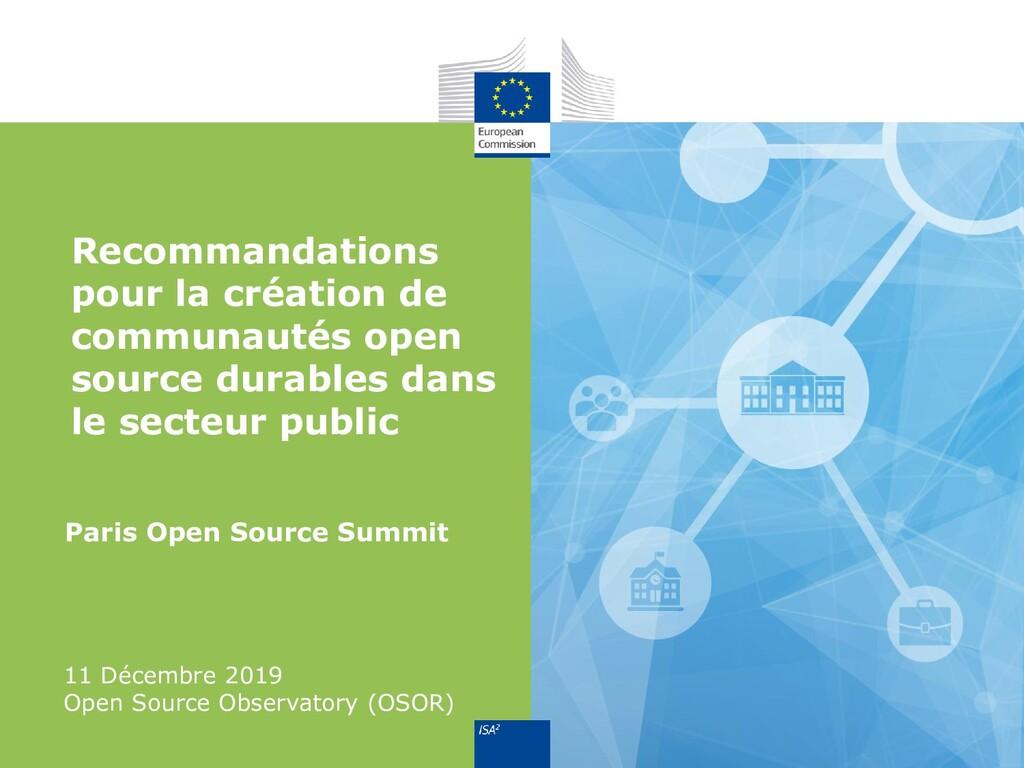 Paris Open Source Summit 11 Décembre 2019 Open ...