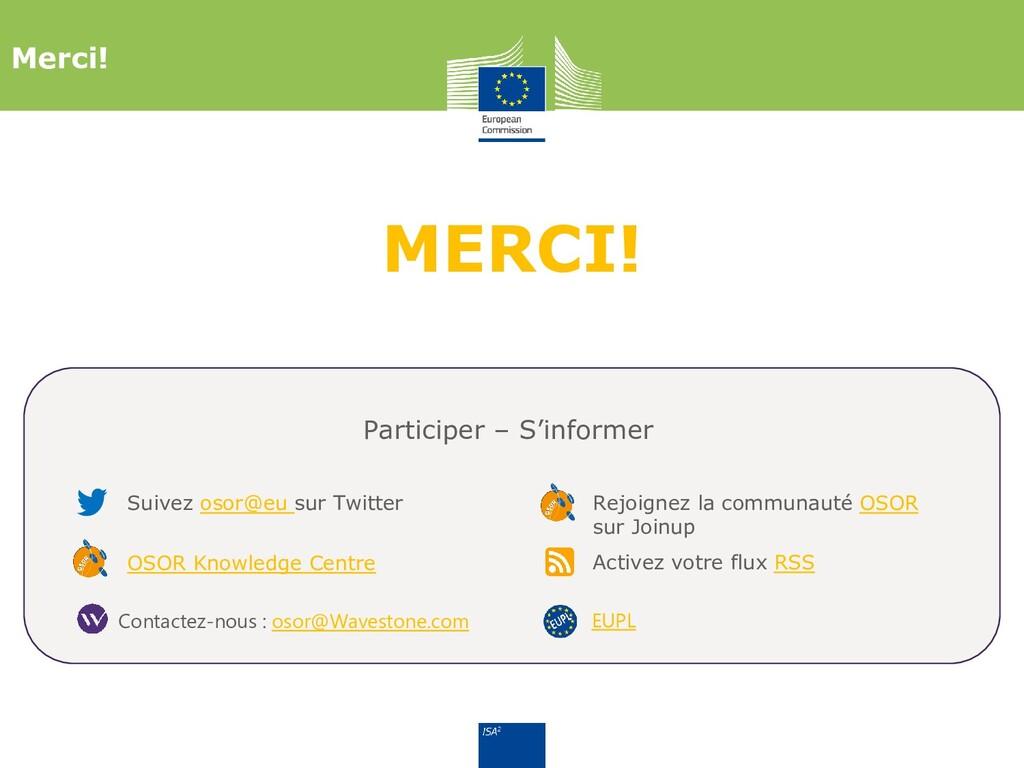 MERCI! Merci! Suivez osor@eu sur Twitter Partic...