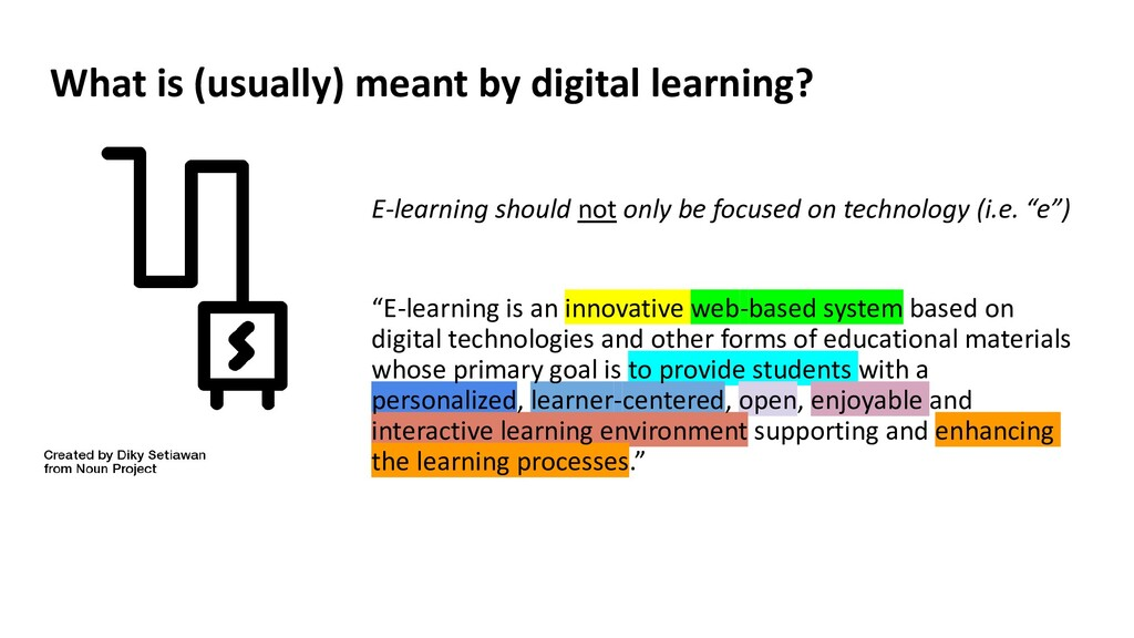 E-learning should not only be focused on techno...