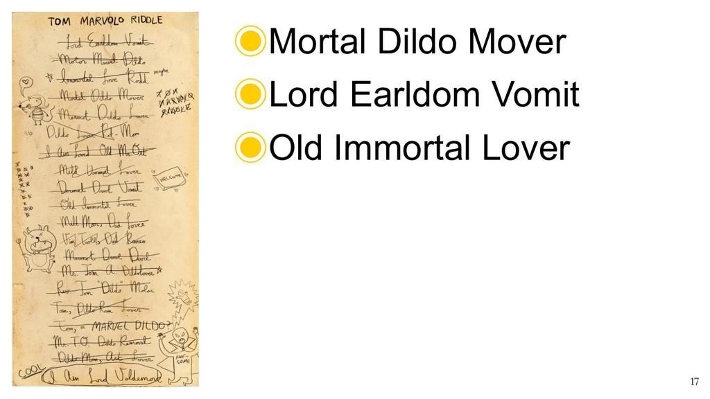 ! 17 ‒Mortal Dildo Mover ‒Lord Earldom Vomit ‒O...