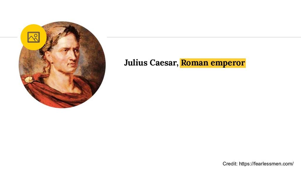 Julius Caesar, Roman emperor Credit: https://fe...
