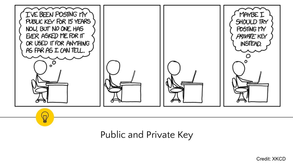 Public and Private Key Credit: XKCD