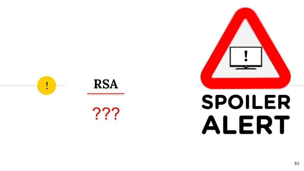 RSA ! ! 83 ???