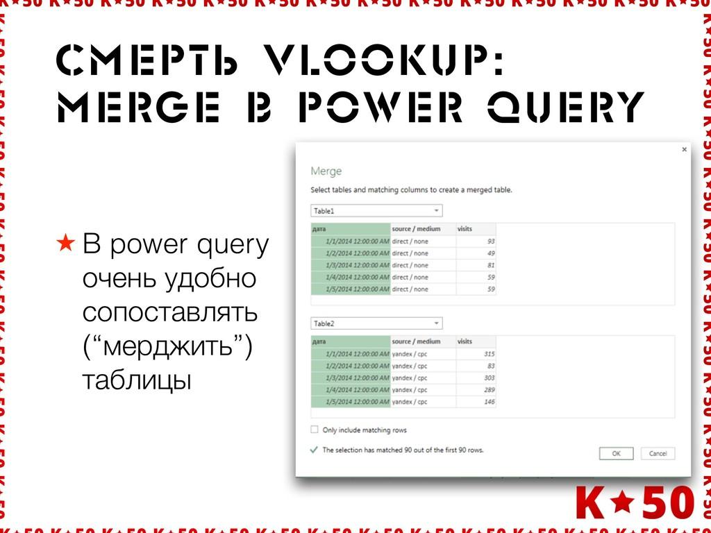 """★ В power query очень удобно сопоставлять (""""мер..."""