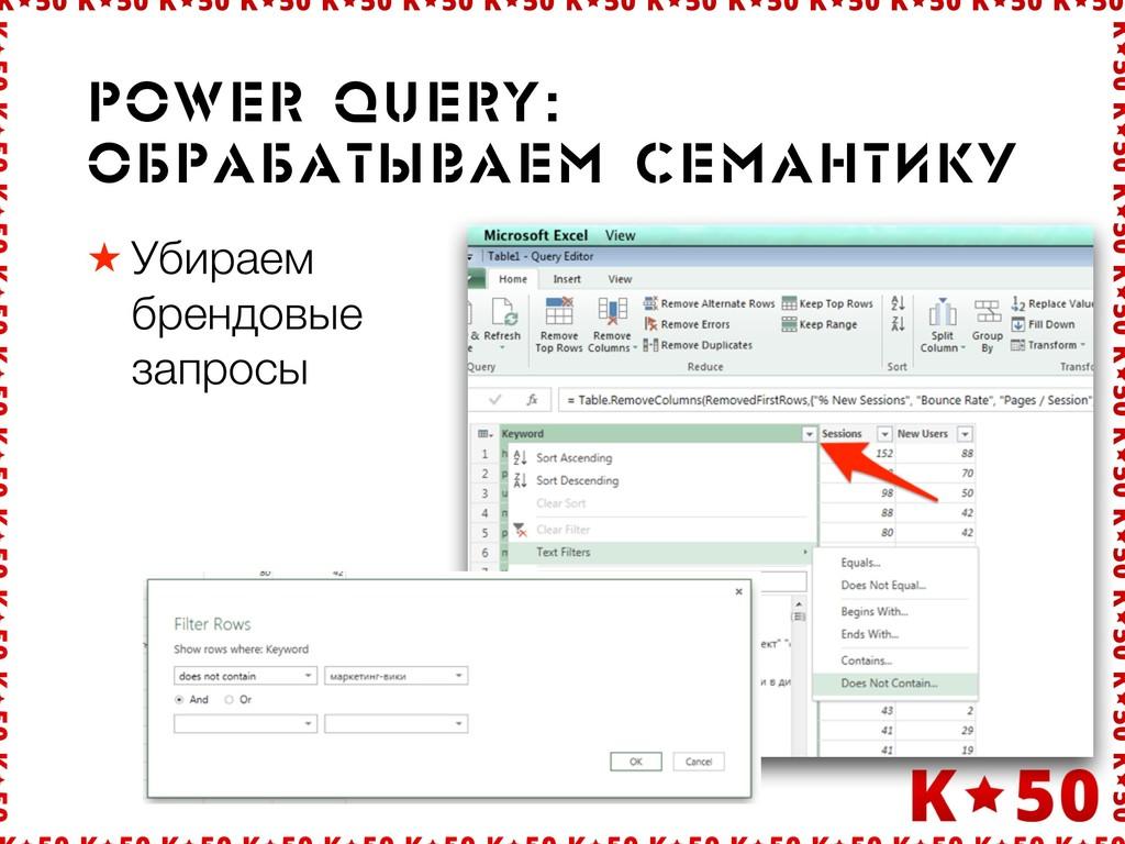 ★ Убираем брендовые запросы power query: Îáðрà...