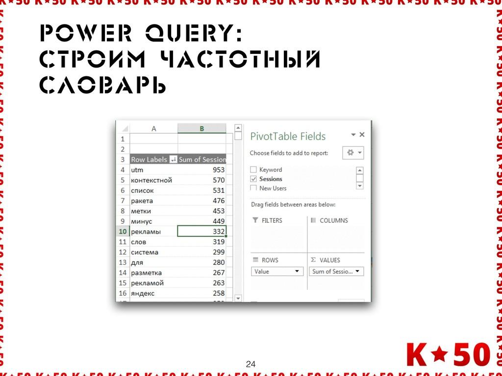 24 Power query: Ñòðрîèì ÷àñòîòíûé ñëîâàðрü