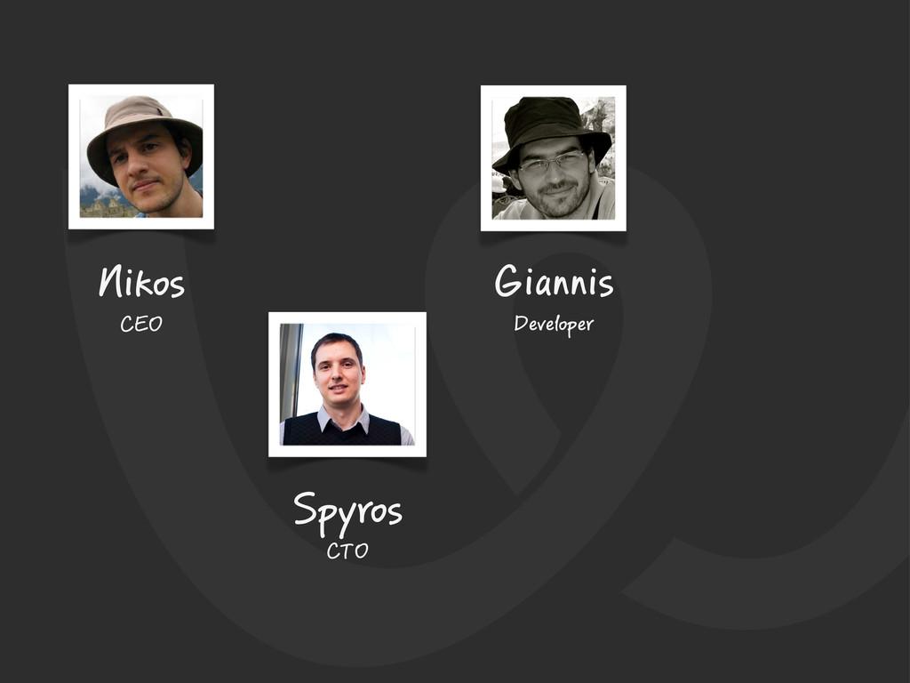 Nikos CEO Spyros CTO Giannis Developer