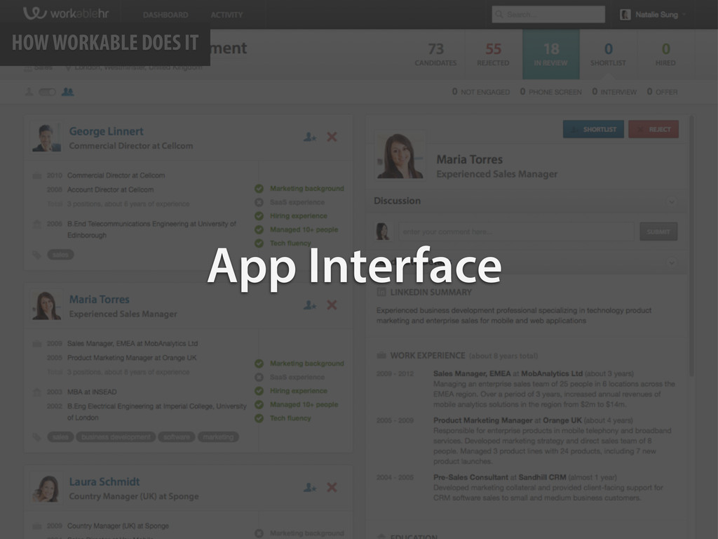 HOW WORKABLE DOES IT App Interface