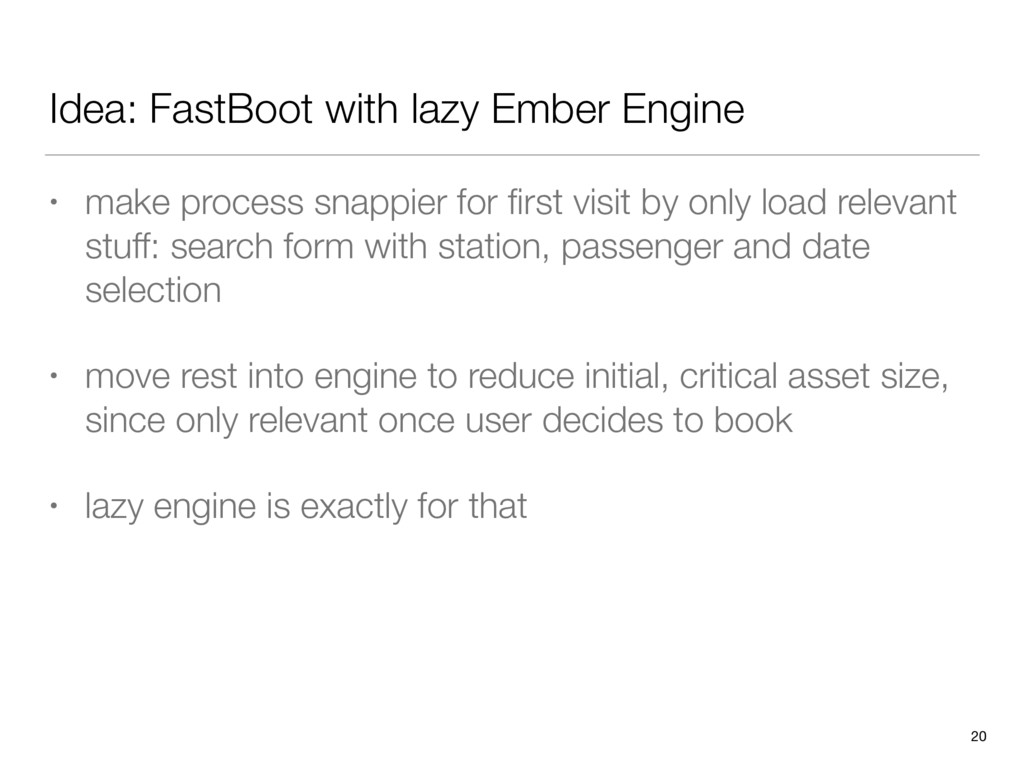 Idea: FastBoot with lazy Ember Engine • make pr...