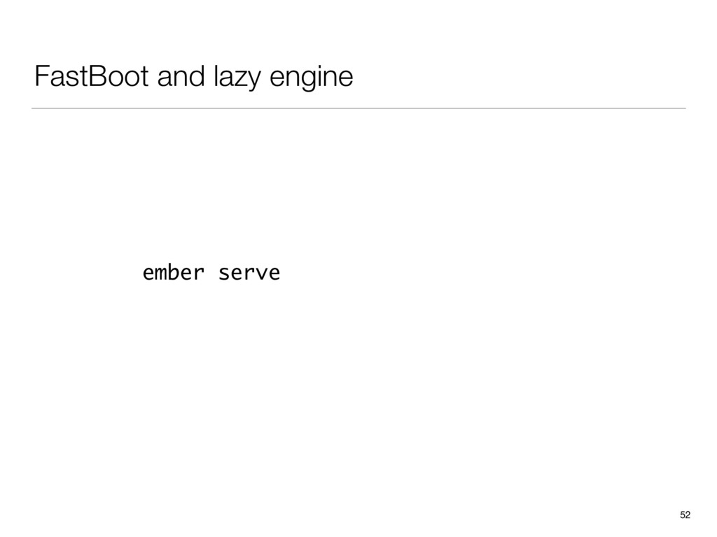 FastBoot and lazy engine 52 ember serve