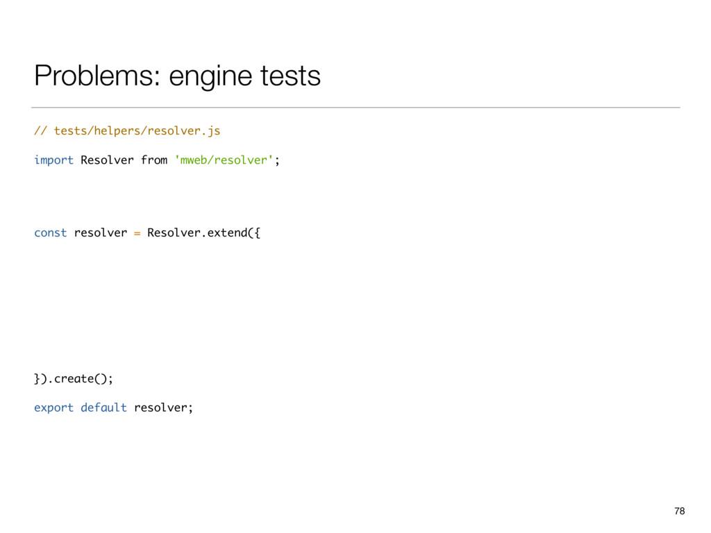 Problems: engine tests // tests/helpers/resolve...