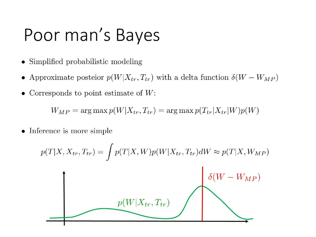 Poor man's Bayes