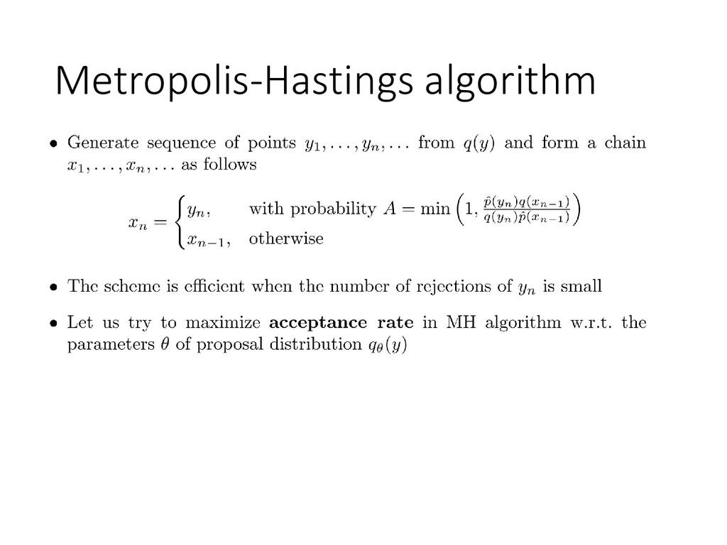Metropolis-Hastings algorithm