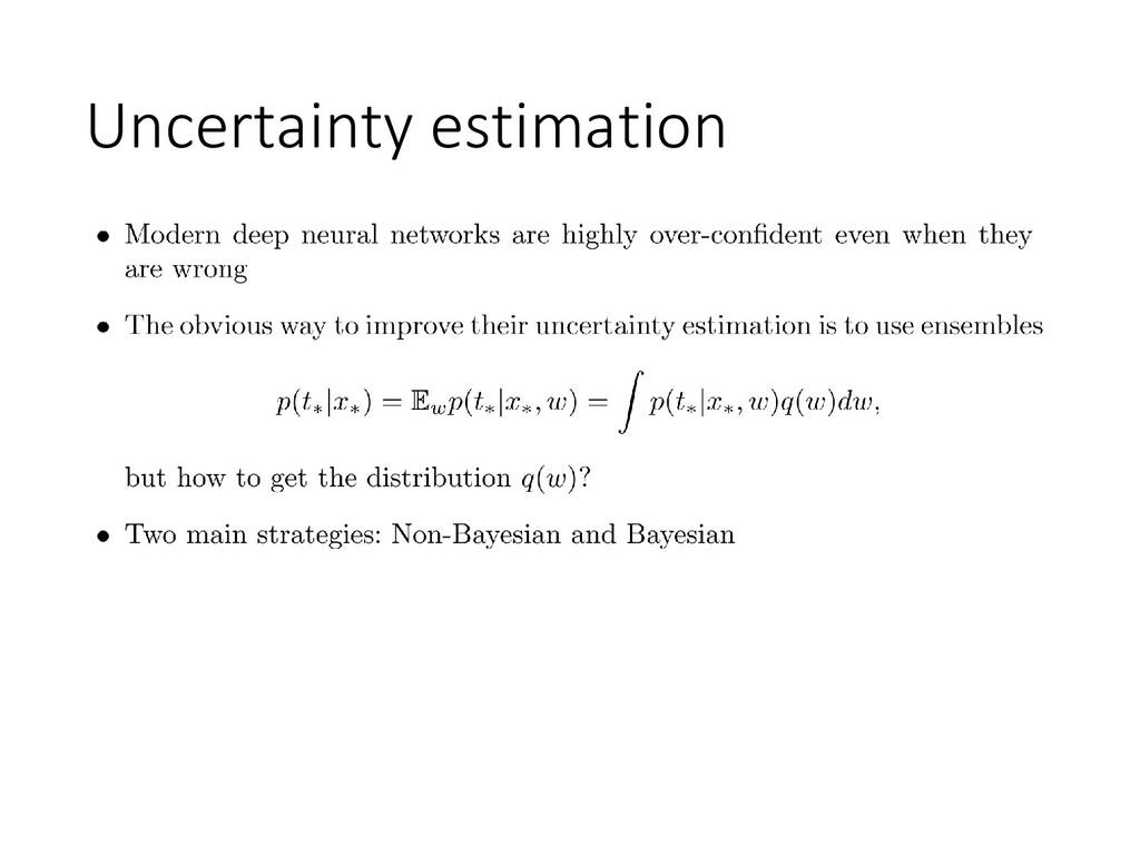 Uncertainty estimation