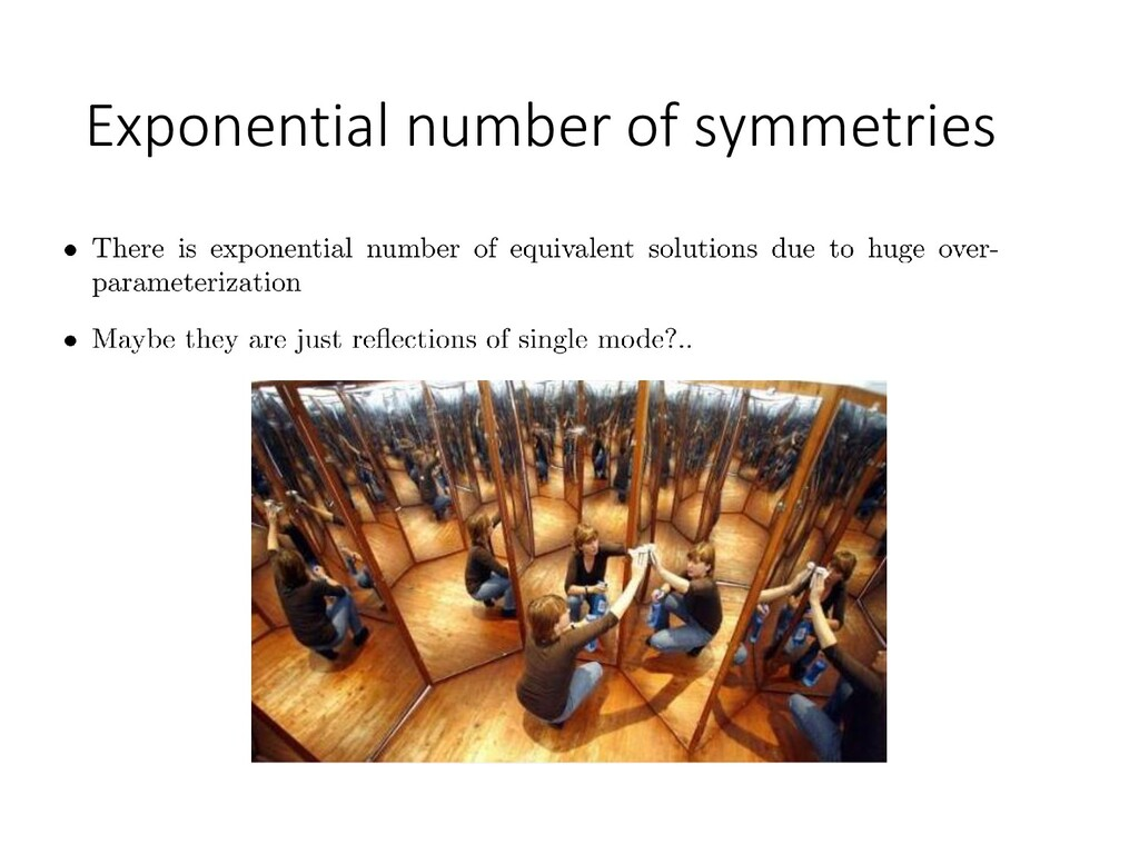 Exponential number of symmetries