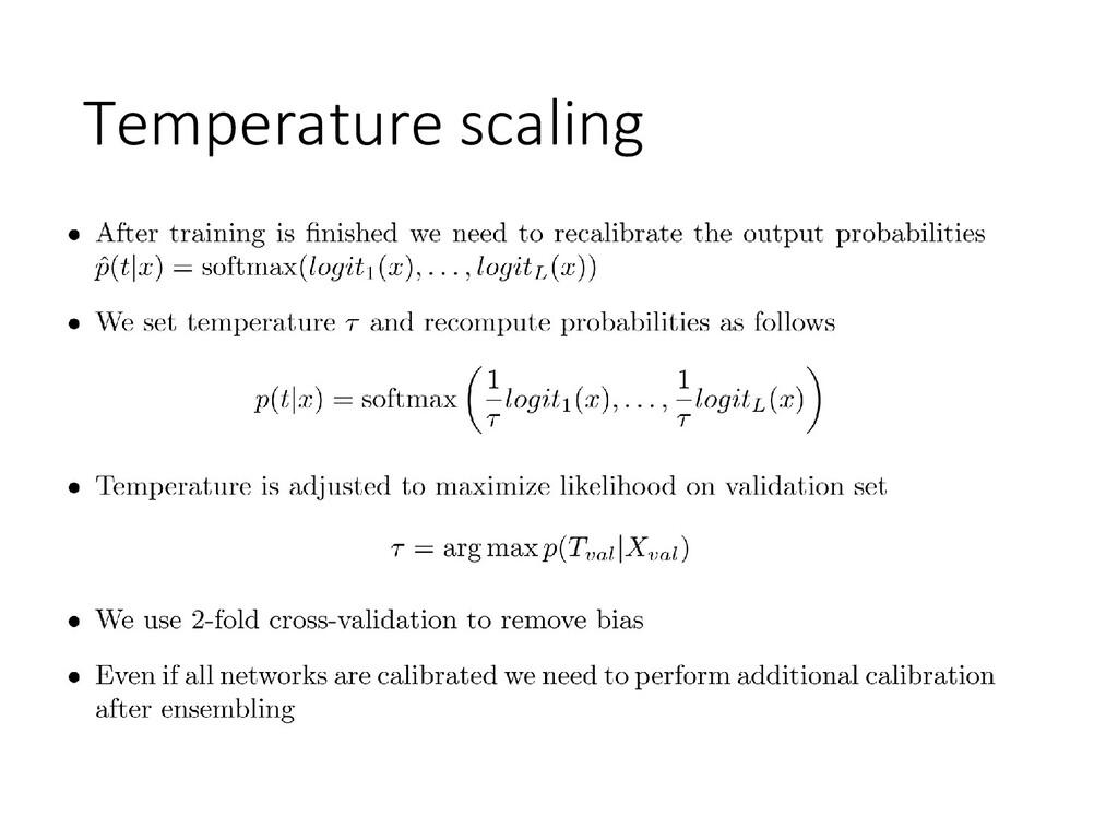 Temperature scaling