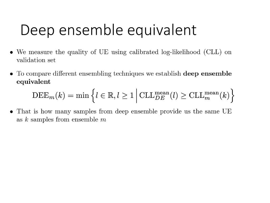 Deep ensemble equivalent