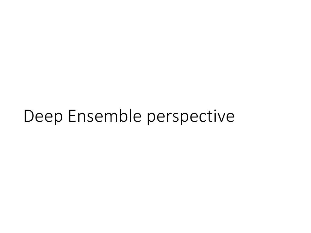 Deep Ensemble perspective