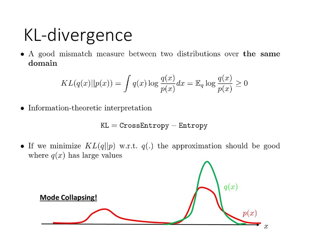 KL-divergence Mode Collapsing!
