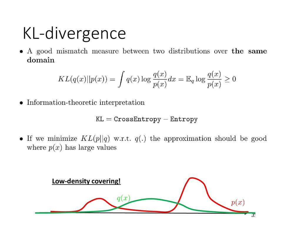 KL-divergence Low-density covering!